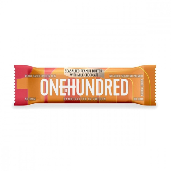 OneToHundred Protein Bar - Seasalted peanut butter w/milk chocol