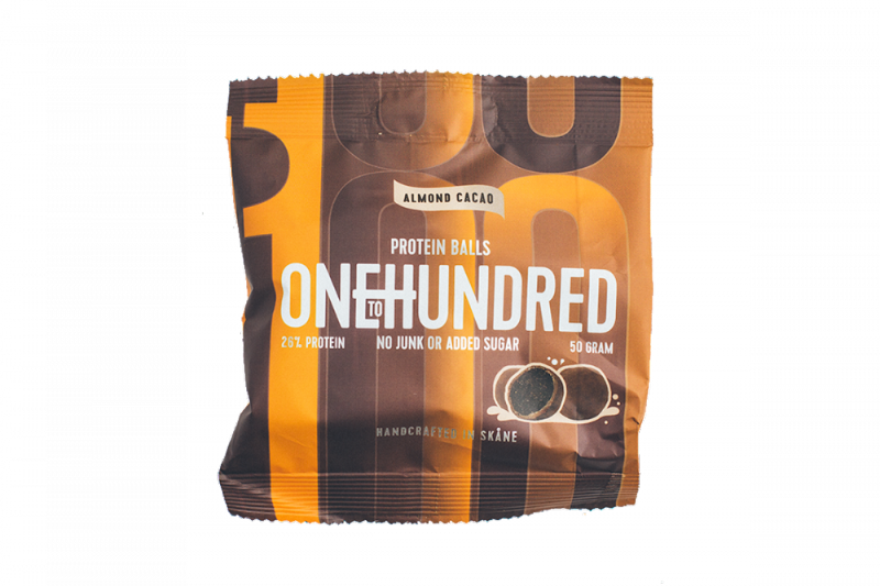 OneToHundred Protein Balls 10x50g - Mandler/Kakao