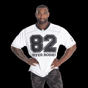 Bilde av Better Bodies BB Football tee - Hvit t-skjorte