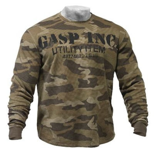 Bilde av Gasp Thermal Gym Sweater Green Camoprint -