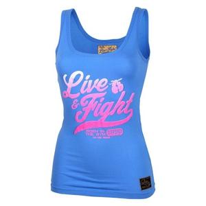 Bilde av Live & Fight Lady's Tank Top - Original 90 - Blue