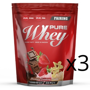 Bilde av Fairing Pure Whey 3 x 1000 g - Proteinpulver