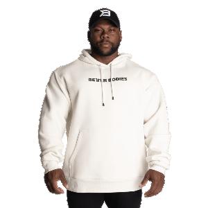 Bilde av Better Bodies Unisex Logo hoodie - Off White