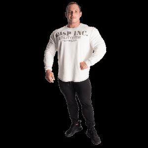 Bilde av Gasp Thermal gym sweater  - off white genser