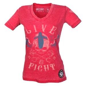 Bilde av Live & Fight Lady's Tee - Ride Free - Pink -
