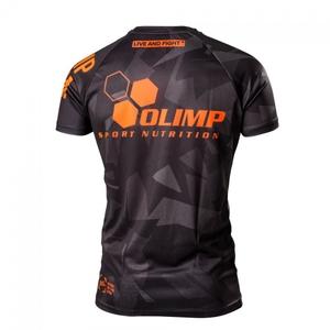 Bilde av  Mens T-shirt Raglan Geometric Black Grey Orange