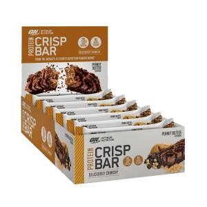 Bilde av Optimium Protein Crisp Bar Peanut Butter 10 x 65g