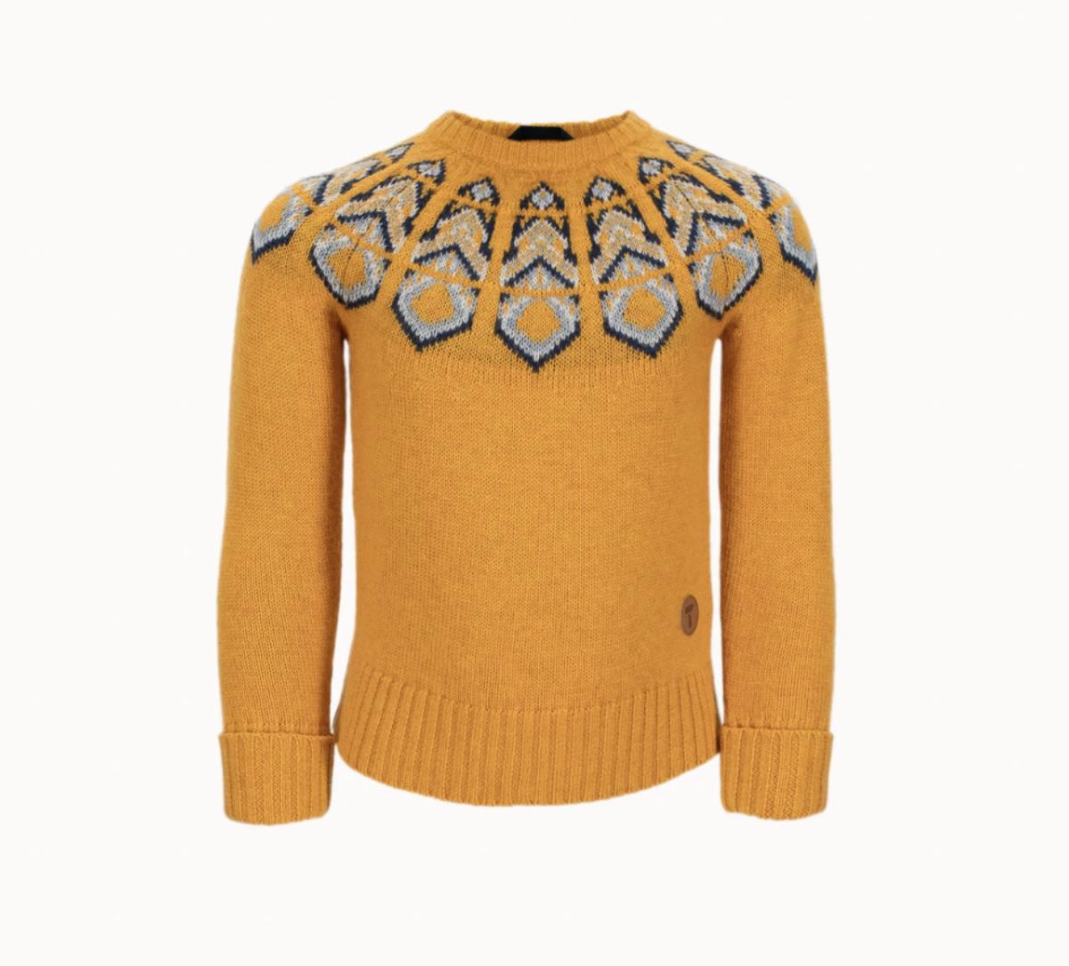 Tufte Kids Lambswool Pattern Sweater - Gul