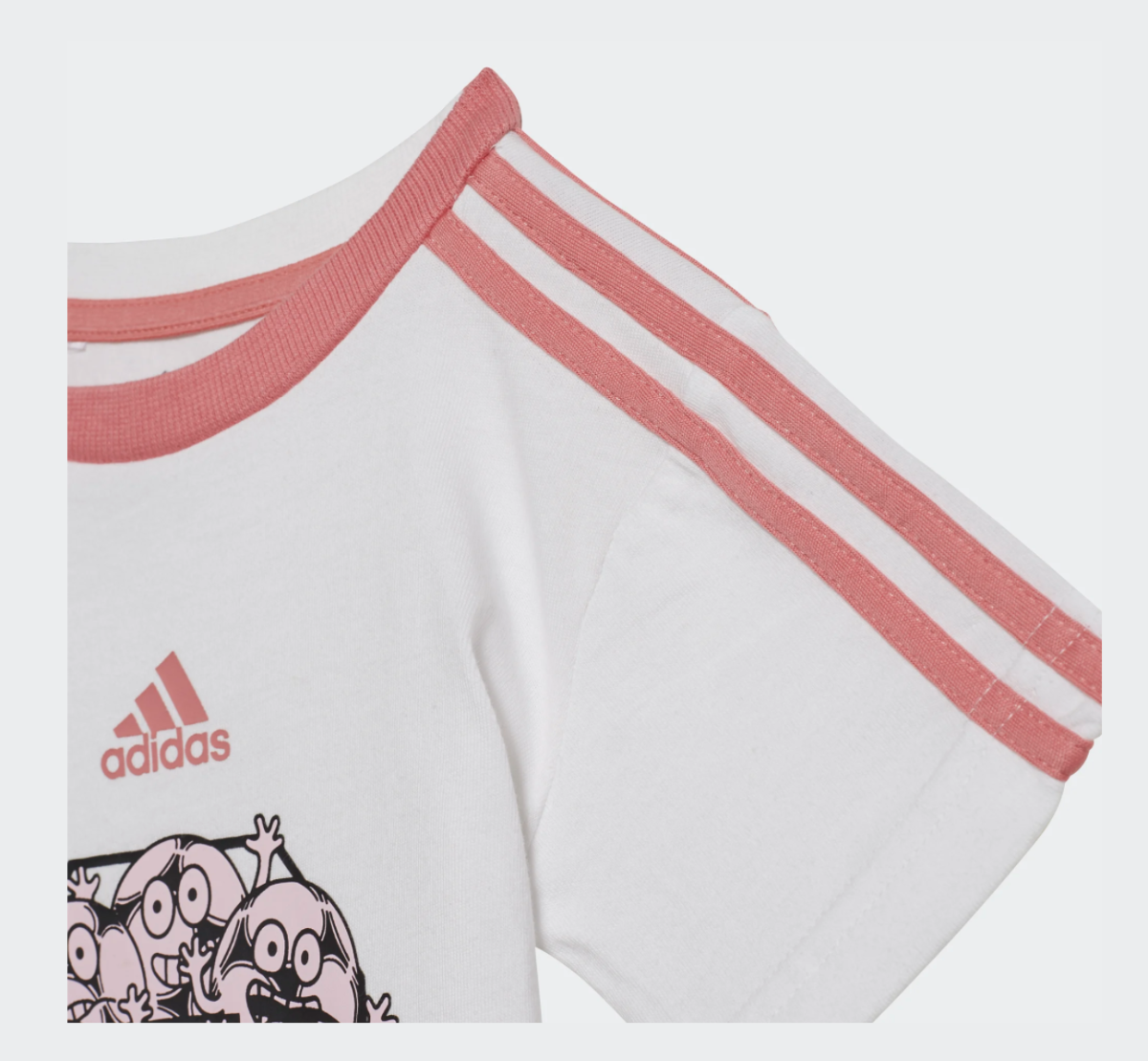 Rosa/Hvit Adidas 3S SP Sett