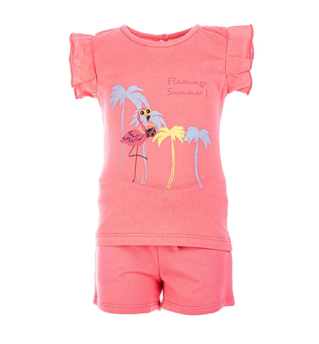 Salto Flamingo Shorts Sett Rosa