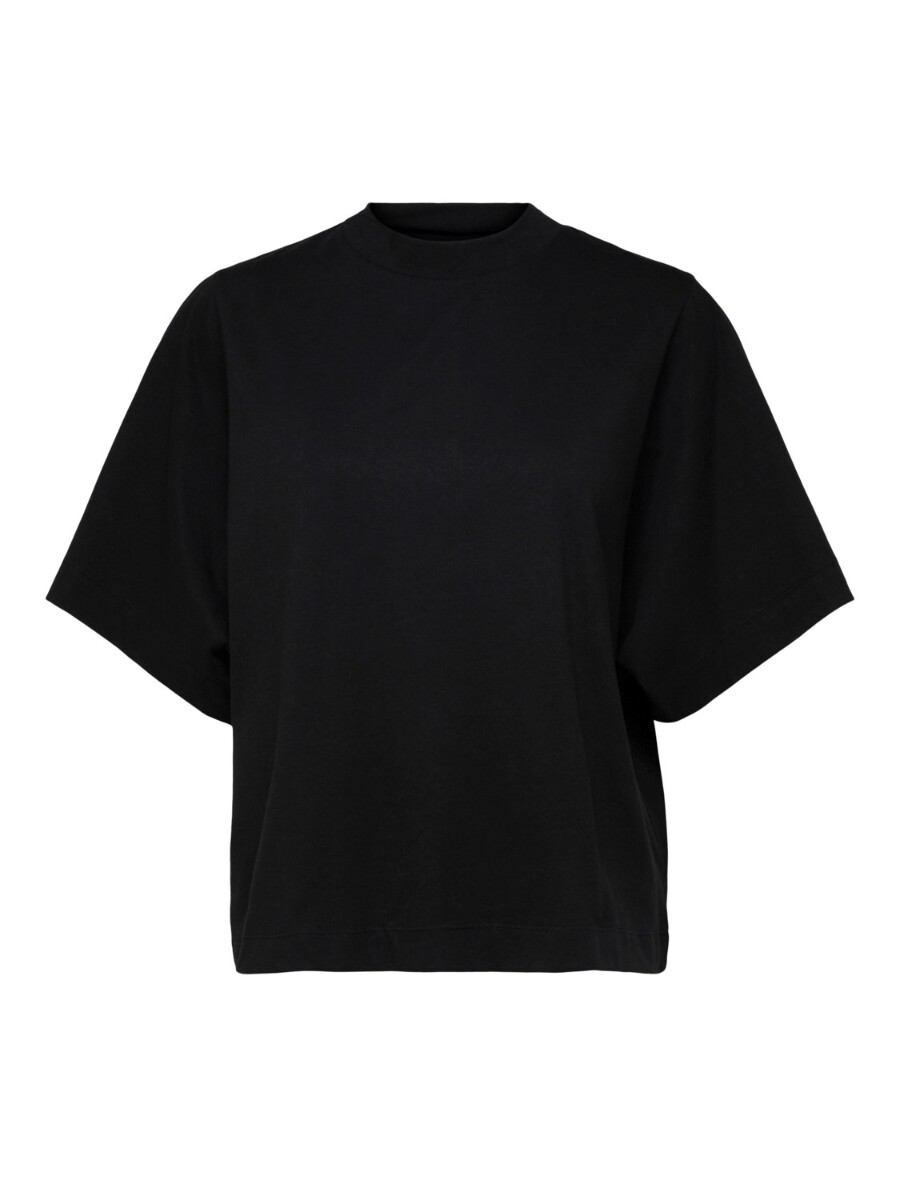 SELECTED FEMME - SORT SS HIGH NECK TEE W
