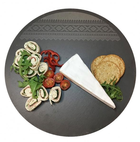 Image of Round slate cutting board, Marius® pattern©