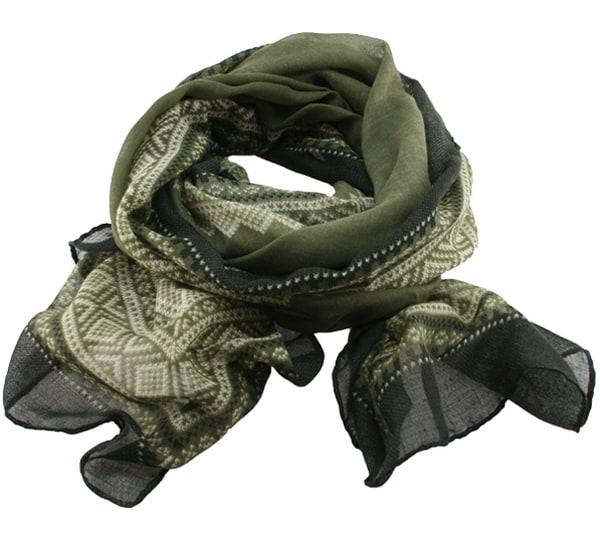 Image of Marius® scarf, green/white/black