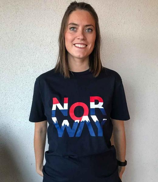 Image of T-shirt 'NOR WAY', blue