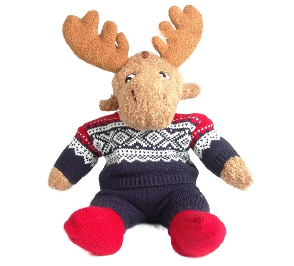 Image of Elgar the moose w/ Marius® pullover  navyblue