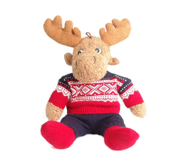 Image of Elgar the moose with Marius® pullover, red