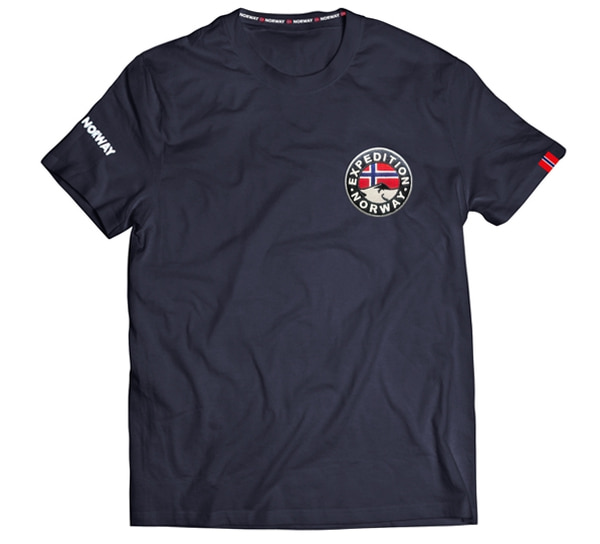 Image of T-shirt 'Expedition Norway' blue