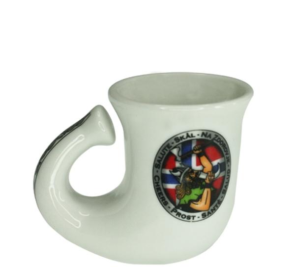 Image of Shotglas, horn with viging design