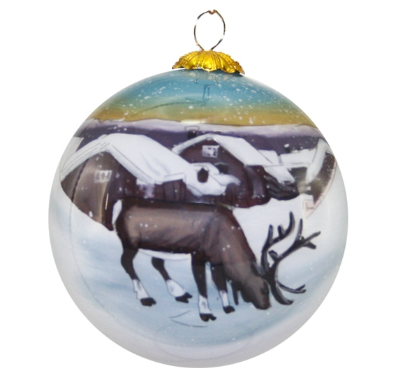 Image of Glass ball, Reindeer, 'Solemsløkk'