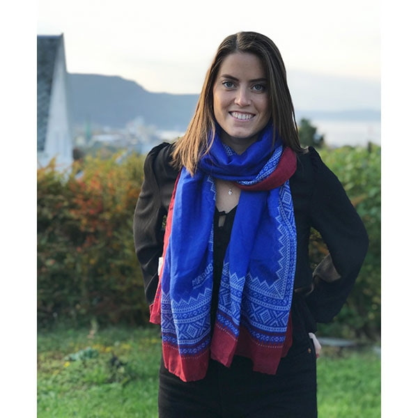 Image of Marius® scarf , blue/white/red