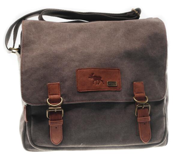 Image of Large shoulder bag in washed canvas Jopo