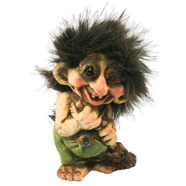 Image of Troll with broomstick (Troll # 003)