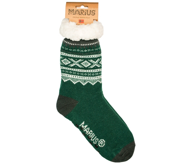Image of Snuggle sock Marius® pattern© green One size