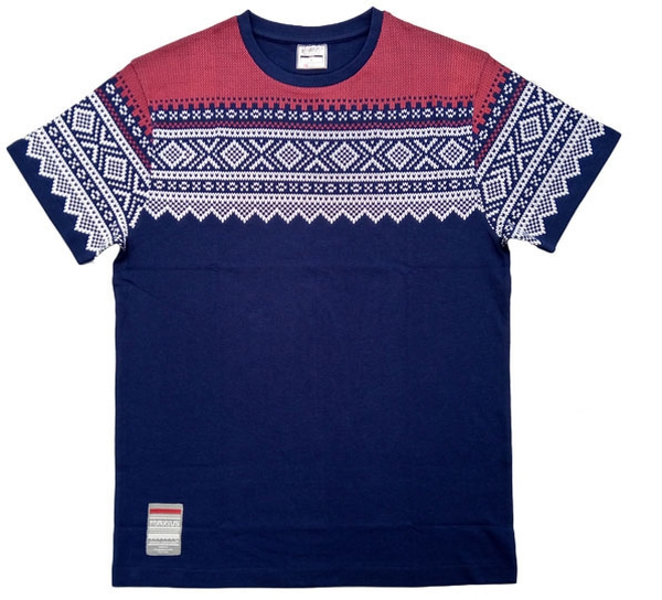 Image of T-shirt with Marius® pattern, blue