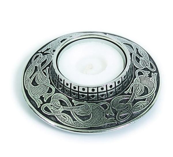 Image of Viking pewter light holder, Tinn-Per