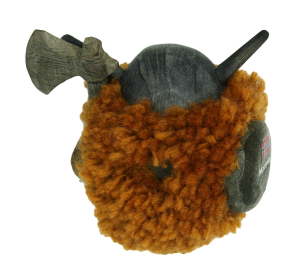 Image of Magnet, light brown pompom viking