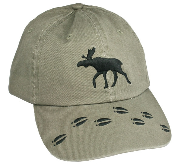 Image of Caps green with moose and moose tracks