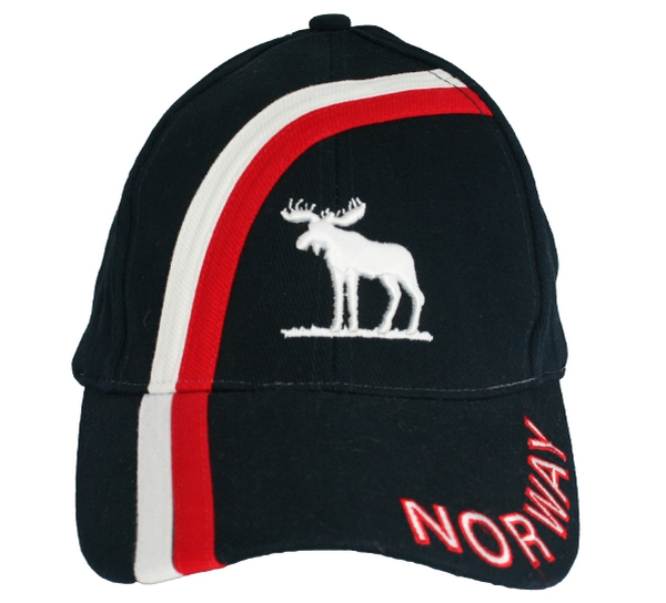 Image of Caps blue/white/red with moose and Norway