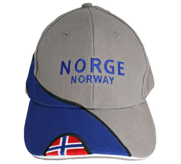 Image of Caps grey/blue Norge/Norway and flag
