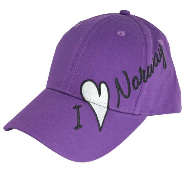Image of Caps purple, I love Norway