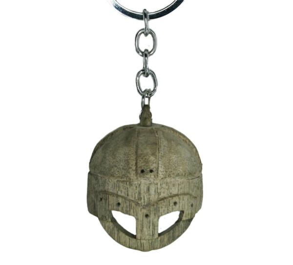 Image of Key chain, wooden viking helmet