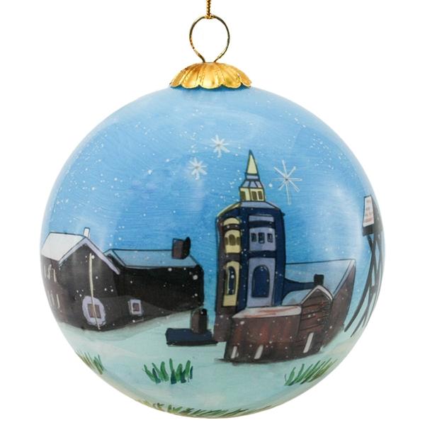 Image of Glass ball, Røros, 'God jul'