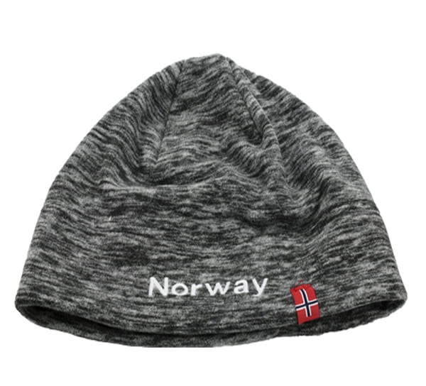 Image of Hat mottled fleece with flag  and Norway grey