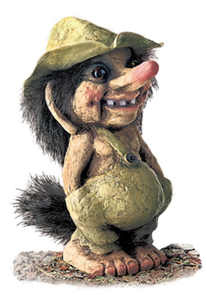 Image of Troll  boy with hat (Troll # 117)
