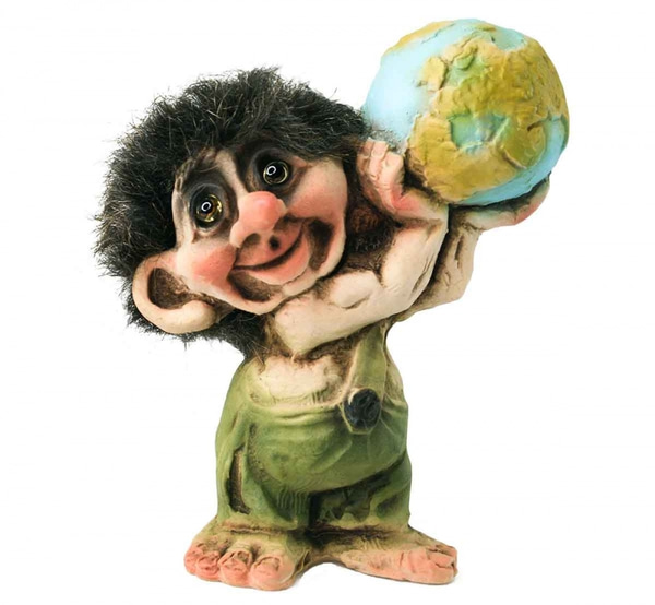 Image of Troll with the earth and flag(Troll # 016)