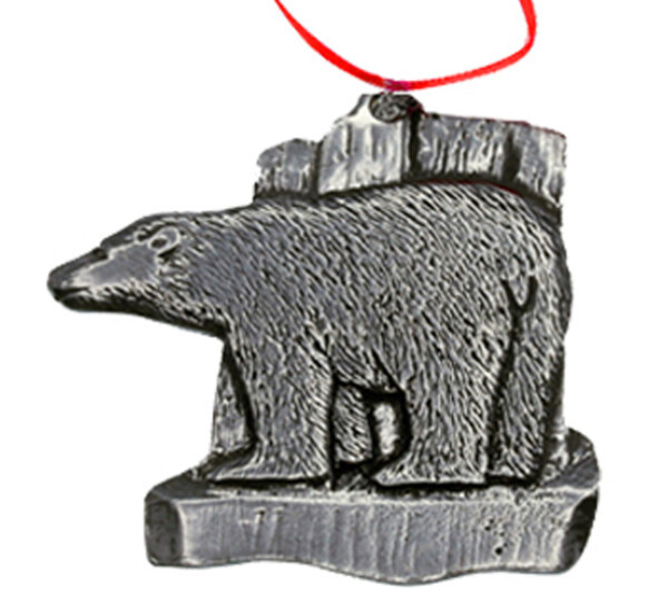 Image of Ornament, Polar Bear Tinn-Per