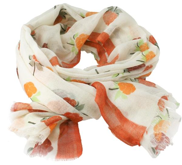Image of Wool scarf Cloudberry beige