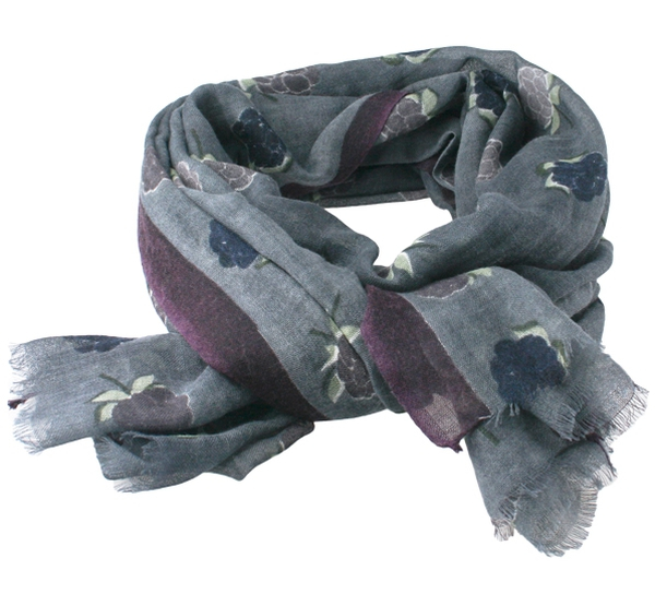 Image of Wool scarf Cloudberry grey