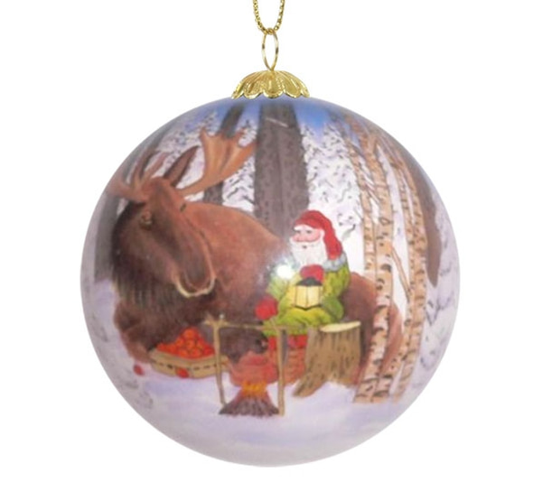 Image of Glass ball, moose and santa, 'Bergerlind'