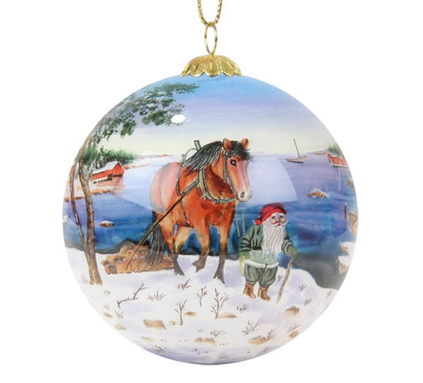 Image of Glass ball, horse at the coast, 'Bergerlind'