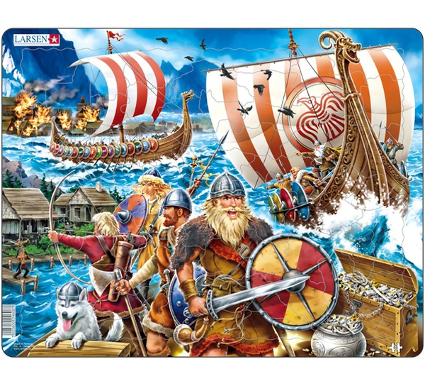 Image of Puzzle, Viking warriors
