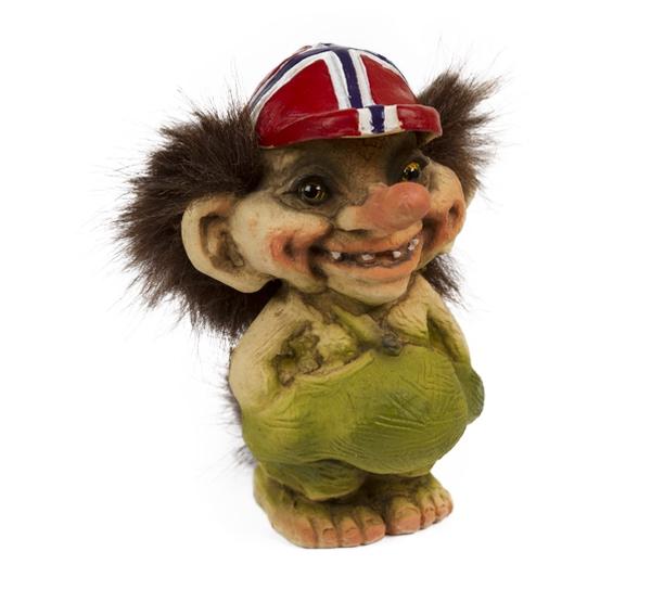 Image of Troll with Norwegian cap(Troll # 092)
