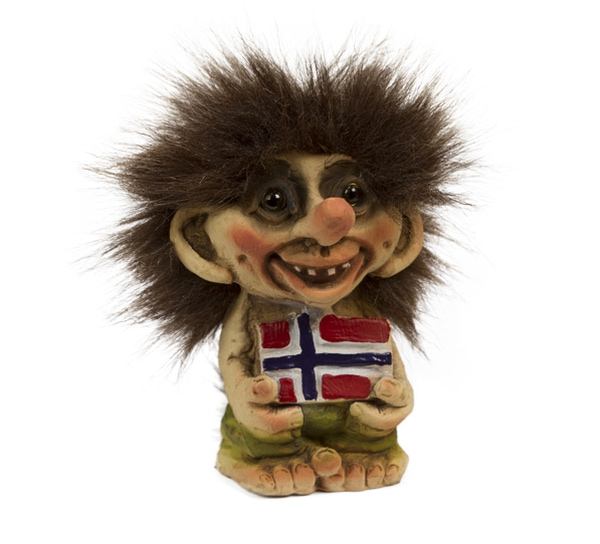 Image of Troll with flag on belly(Troll # 093)