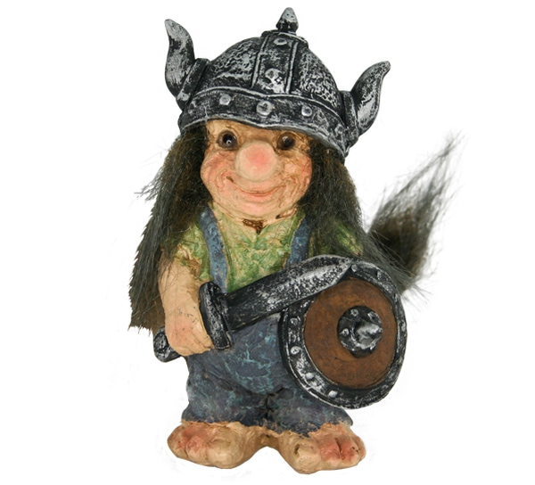 Image of Viking troll with green sweater