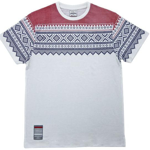 Image of T-shirt with Marius® pattern, white