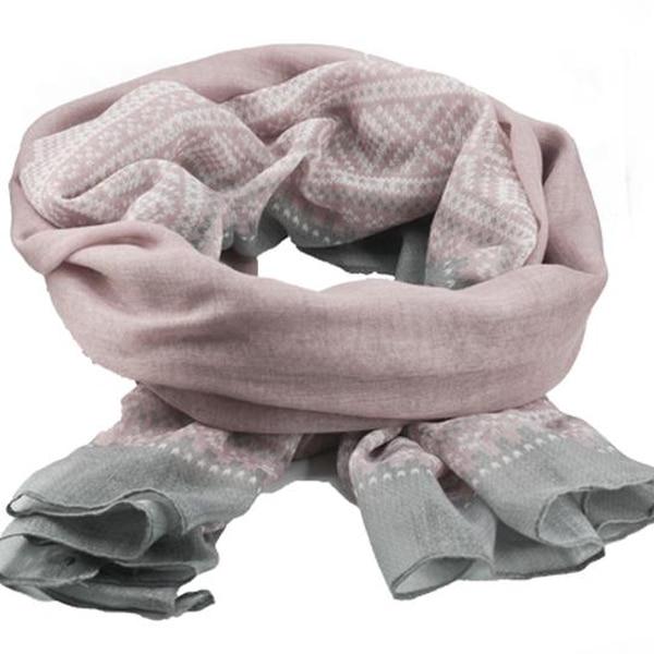 Image of Marius® scarf, light pink/white/grey